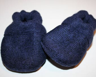 blue baby shoes gender neutral shoes baby booties vegan moccasins slippers newborn soft sole baby shoe toddler baby shoes sweatshirt