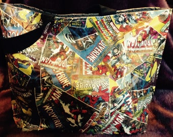 Marvel Hero Vinyl Covered Tote/Diaper Bag