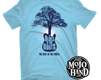 Blues is the Roots t-shirt from mojohand.com - Muddy Waters / Willie Dixon - Blues guitar gifts