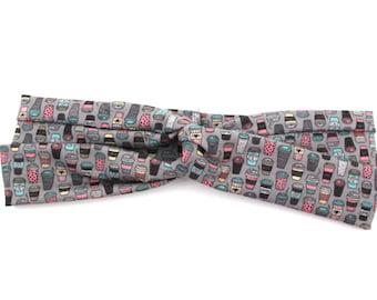 "Coffee Headband Matching Dog Collar ""Doggie and Me"" Matching Set Headband Only"