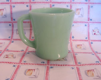 Fire King Jadeite Mug D Handle