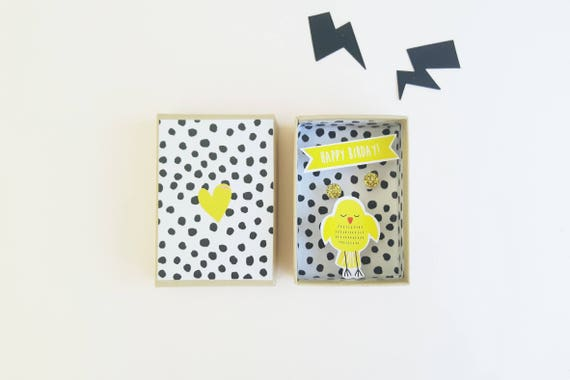 Happy birthday small message box / Miniature Art / Diorama / 3d Art / Decorative Matchbox / Miniature paper diorama / Birthday gift