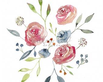 Fields of Grace, Floral Print, Flower Print, Wall Art , Wall Print, Easter, Watercolor Print, Flower Prints