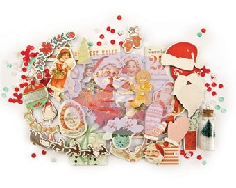 Prima  Sweet Peppermint Collection Chipboard & More Scrapbook Embellishments