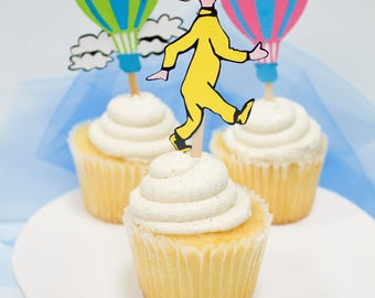 Oh the places you'll go cupcake toppers - Dr Seuss Birthday - Dr Seuss Party - Oh the places Birthday Party - Dr Seuss Party Decor