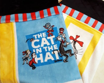 The Cat In The Hat Window Panes Minky Baby/Toddler Blanket