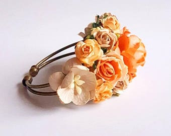 Autumn Fall prom corsage - custom corsage - Bespoke - bracelet - wrist - keepsake - mother's - bridesmaid corsages
