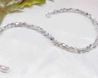 Silver AB Crystal Bracelet Gray Bracelet 925 Sterling Silver Bracelet Crystal Jewelry Bridesmaid Gift BuyAny3+Get1 Free