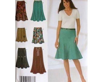 Plus Size Skirt, Pattern, 12 14 16 18 20, Simplicity 4365, UNCUT, Gored Skirt, Length Variations, Easy Pattern, Size 12 Skirt, Size 20 Skirt