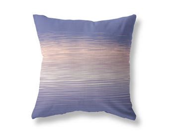 THROW PILLOW - Purple and Pink Abstract, Lake Water Texture