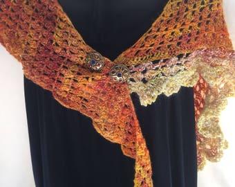 Angora and wool shawlette.