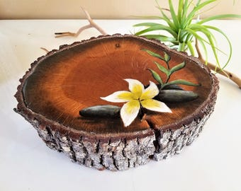Zen Wood Tree Slice, Wall Hanging, Home Decor, Artwork, Rustic Decor,