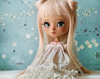 PASTEL DREAMS Collection, Pink Silk Blythe/Pullip Dress By Odd Princess, Vintage Collection