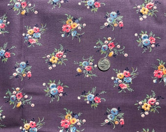 Vintage Floral Fabric 1-1/4 Yards