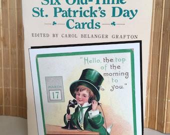 "Vintage 90's  ""ST. PATRICK'S DAY"" Post Card Book  by Carol Belanger Grafton"