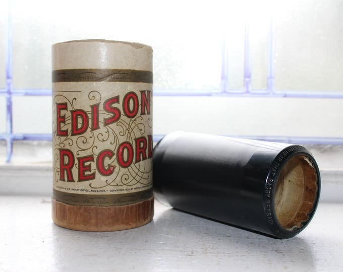 Antique Edison Cylinder Record 3424 When You Hear That Raggy Refrain Phonograph