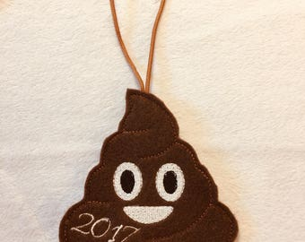 Christmas Ornaments, Poop Emoji Ornament, Christmas Ornaments Handmade, Christmas Ornaments Personalized, Christmas Ornament with Name, Poop