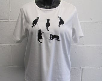 Adorable Vintage 80s Oversized KITTY CAT Top