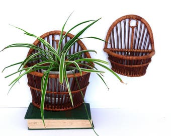 Bohemian Wall Baskets Pockets- Plant Holders- Jungalow Style