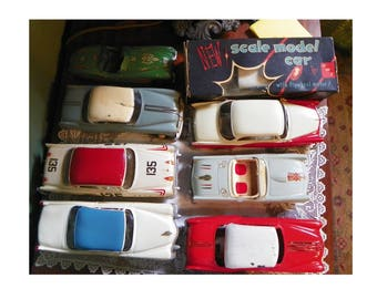 Vintage Car MODELS Dealership Ideal Pontiac Cadillac Dodge Buick Oldsmobile Michigan Detroit Michigan and Hubley Jaguar