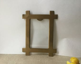 French vintage small frame for picture in brass 19th