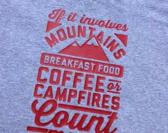 Count me in Mountains tee