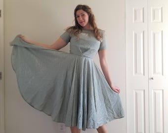 Vintage 1950's Extra Full Circle Skirt Dress
