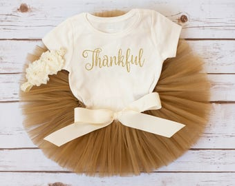 First Thanksgiving outfit girl Thankful tutu fall outfit baby girl first Thanksgiving baby outfit fall tutu outfit newborn thanksgiving