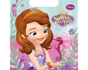 Sofia the first Loot Bags Birthday Party Kids Gift Favours Tableware