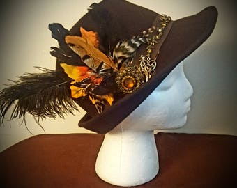 Steampunk Victorian Derby Hat