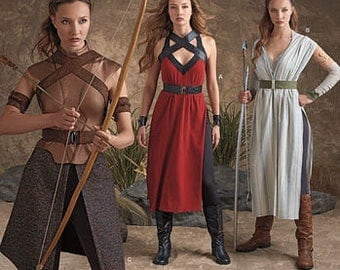 Diy Sewing Pattern-Simplicity 8074-Elf Costume Lord of the Rings, Ren Faire - Size 14-22