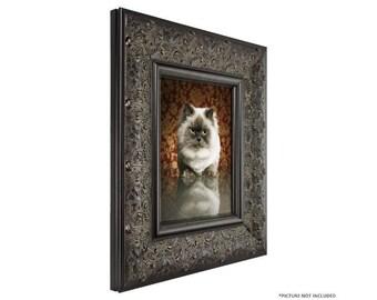 "Craig Frames, 16x20 Inch Black Walnut Picture Frame, Borromini, 3.5"" Wide (94711620)"