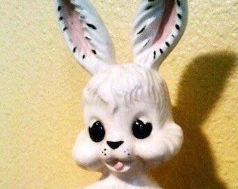 Vintage White Ceramic Bunny Figurine