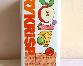 Vintage RyKrisp Cracker Tin Collectible Advertising Canister