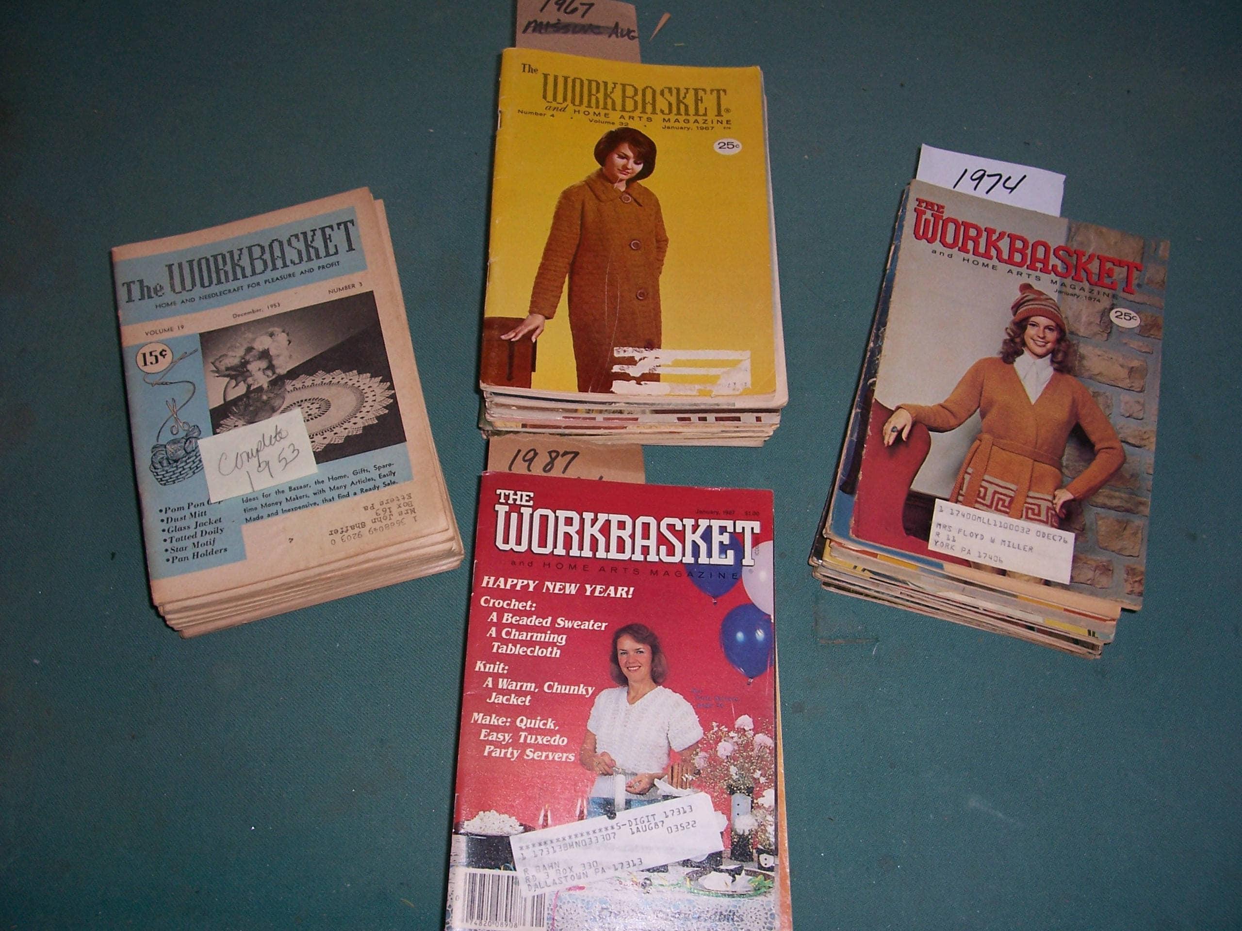 Vintage 1953196719681974 or 1987 workbasket magazines sold by mirandasroom bankloansurffo Choice Image