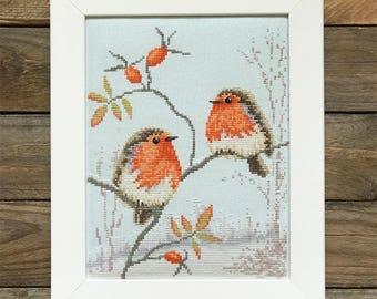 Christmas Robins / PDF Cross Stitch Pattern