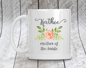 Mother of the Bride Mug, Personalized Wedding Party Coffee Mug