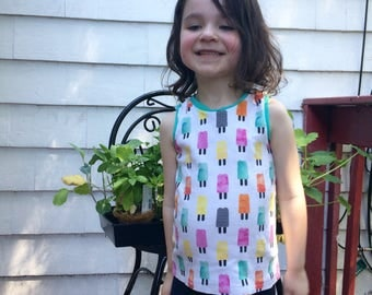Organic Popsicle Party Tank Top Sizes 0-3 M-6 Years. Baby Outfit Photo Prop Coming Home,