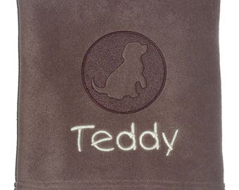 Personalised Pet Blanket with Embossed dog