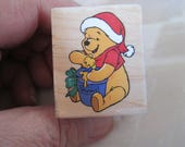"Christmas Rubber Stamps Disney ""  Pooh Christmas Hunny"" For card making  Slightly used good condition"