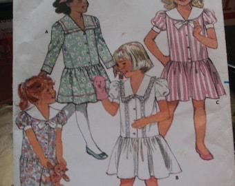 1987 Butterick Sewing paper pattern child's dress clothes  pattern size 1, 2,3, uncut 4774