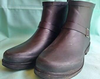 Capelli Black Rubber Rain Boots Womens 8US