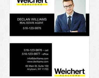 Weichert real estate business cards - thick, color both sides - FREE UPS ground shipping