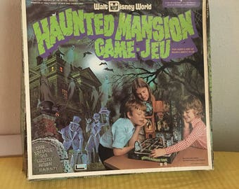 Walt Disney World Haunted Mansion Game, Vintage Game, Vintage Board Game, Rare Board Game, Collectible Disney Haunted Mansion Ride Game