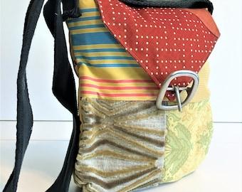 Eco Friendly Purse, Eco Friendly Bag, Vegan Purse, Eco Friendly Tote, Fabric Purse, Crossbody Bag, Recycled Bags, Hobo Handbag, Gypsy Bag