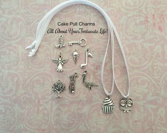 Cake Pull Charms, Wedding Cake Pulls, All About Your FORTUNATE  LIFE  Cake Charms/Pulls!