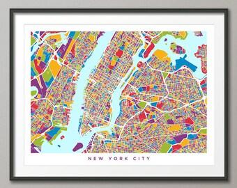 New york city map  Etsy