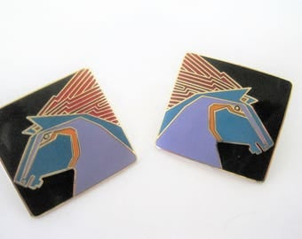Laurel Burch Earrings, Wild Stallion, Pierced Style