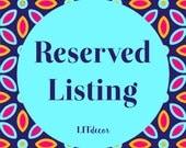 Reserved Listing for Rosanna