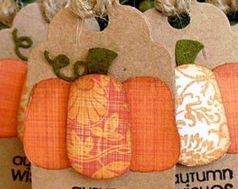 Thanksgiving PUMPKIN Tags